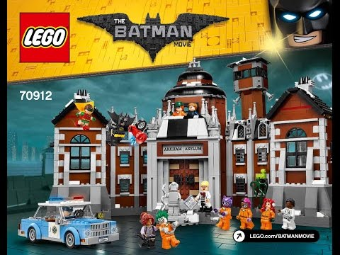 LEGO Batman Movie Arkham Asylum 70912 Instructions DIY Book