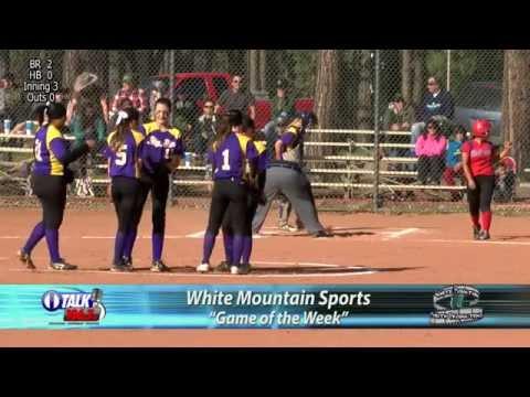 Holbrook vs Blue Ridge Softball 4/7/15 White Mountain High School Softball