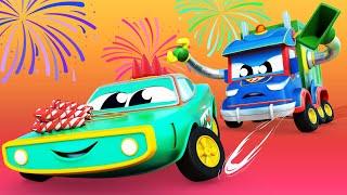 КРОКОДИЛ украл НОВОГОДНИЙ ФЕЙЕРВЕРК Автомобильный город Детские мультфильмы