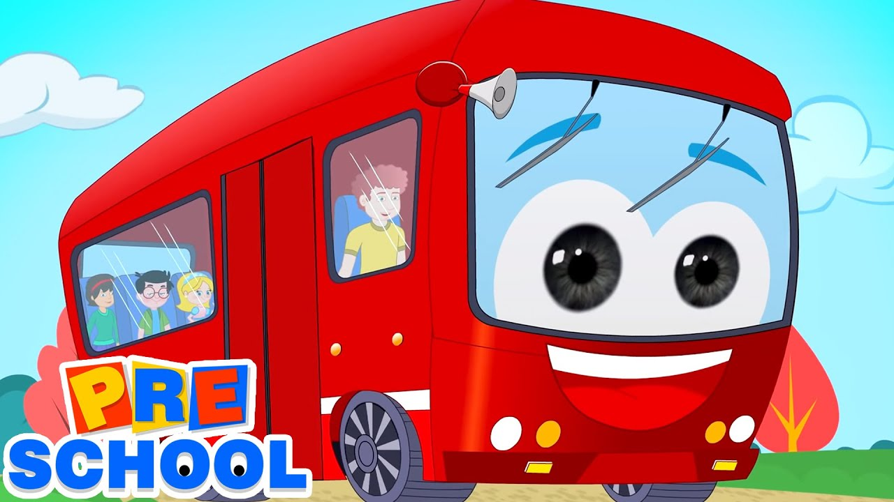 Wheels On The Bus Go Round And Round | Bus Song | Nursery Rhymes & Kids Songs | Baby Rhymes