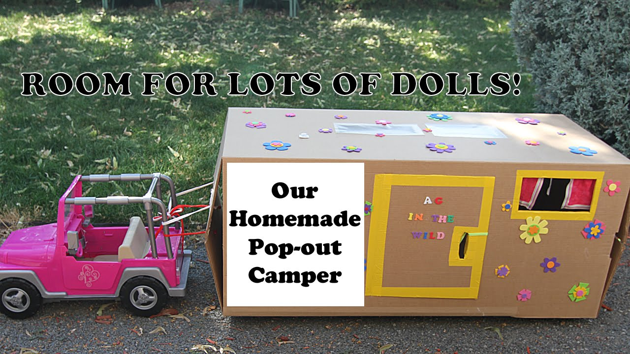 Htm 18 Inch Doll Camper Thrifty Project Sleeps 7 Dolls Youtube