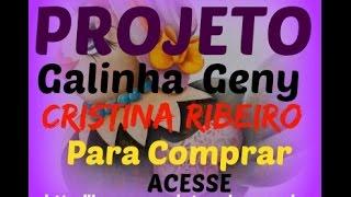 Pintando a Galinha Geny (Projeto) – pintura em tecido por Cristina Ribeiro