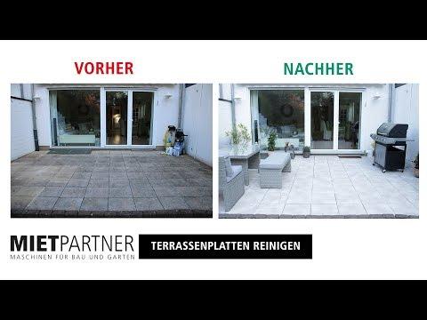 Mit dem Hochdruckreiniger Terrasse reinigen und versiegeln mit MIETPARTNER