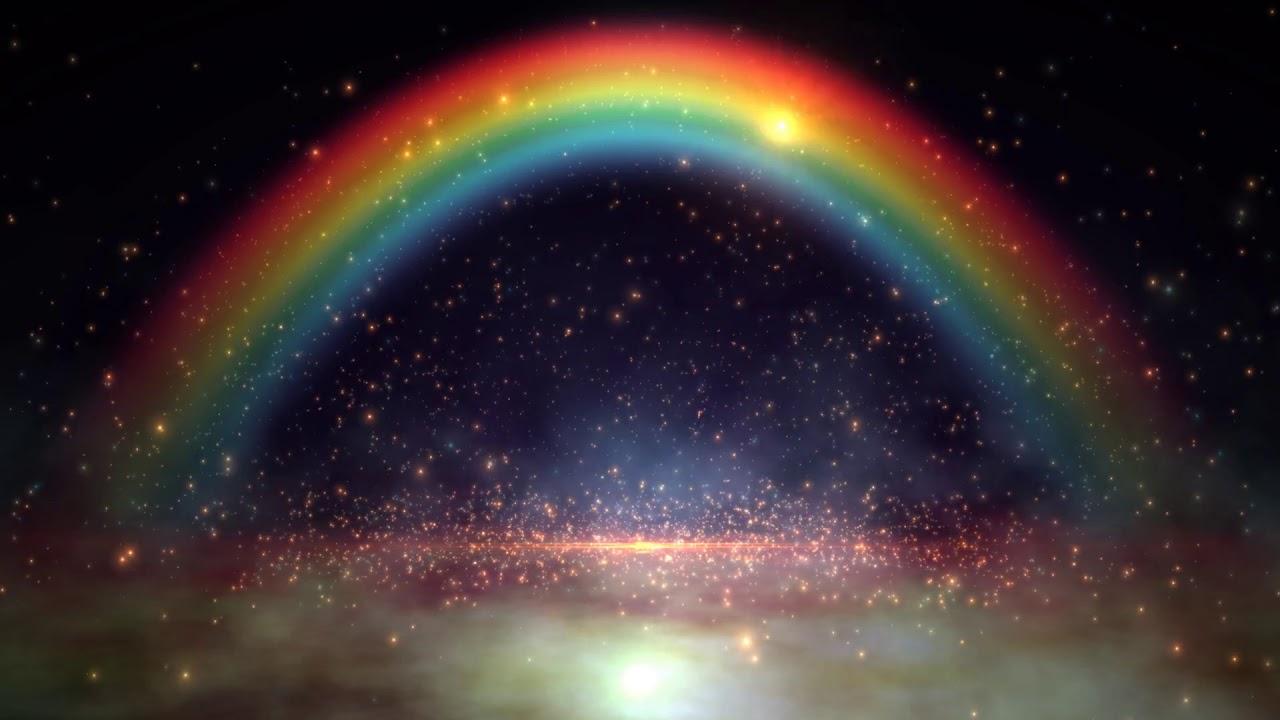8K Rainbow Space Nebula Moving Background AA VFX - YouTube