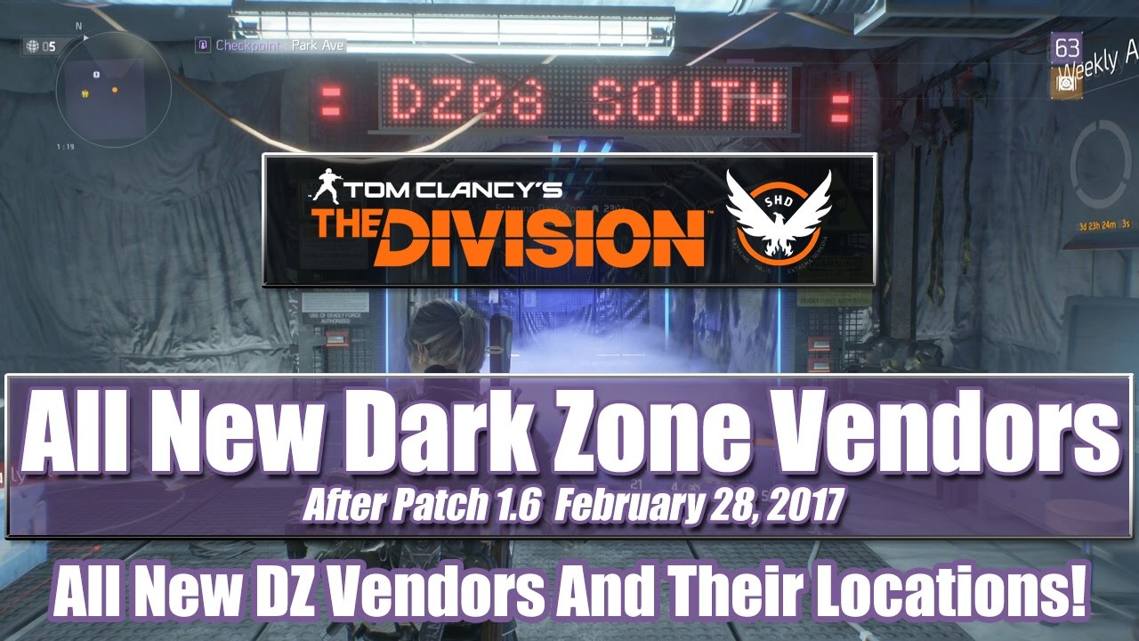 The Division New Dark Zone Vendors - Are You Gaming?