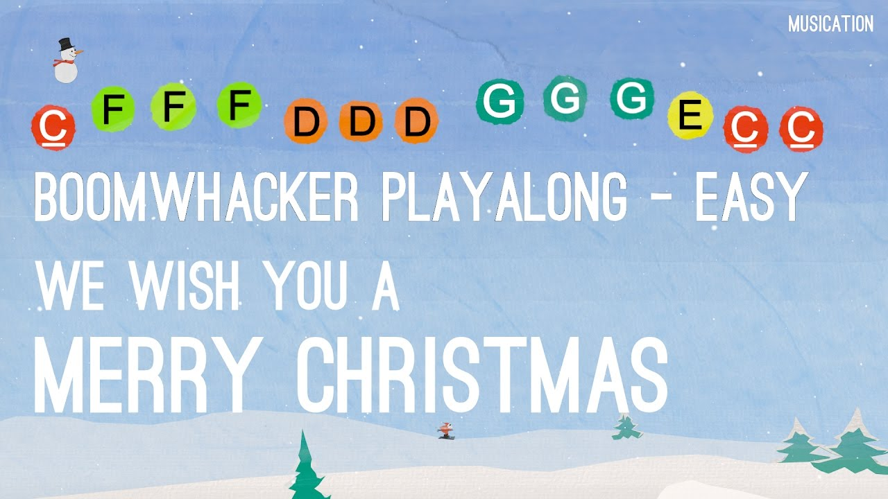 Barney Weihnachtslieder Text.We Wish You A Merry Christmas Boomwhackers Easy