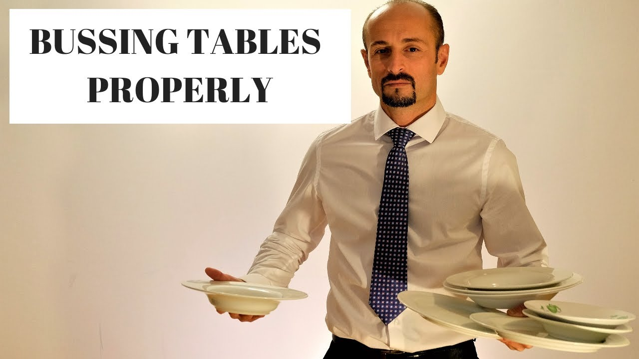 Waiter Training How To Bus A Table