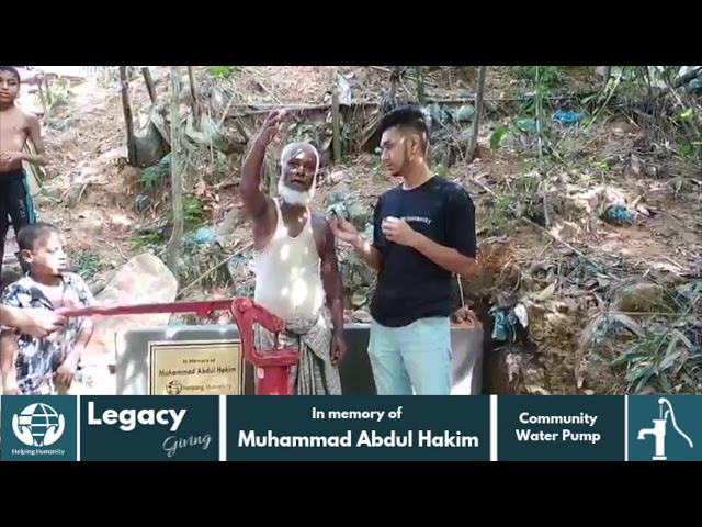 Water Pump donated in memory of Muhammad Abdul Hakim