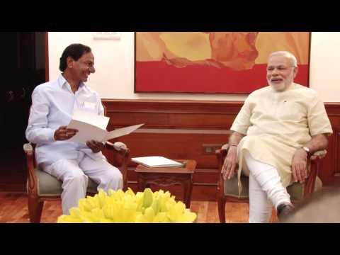Telangana CM K. Chandrashekar Rao calls on PM Modi