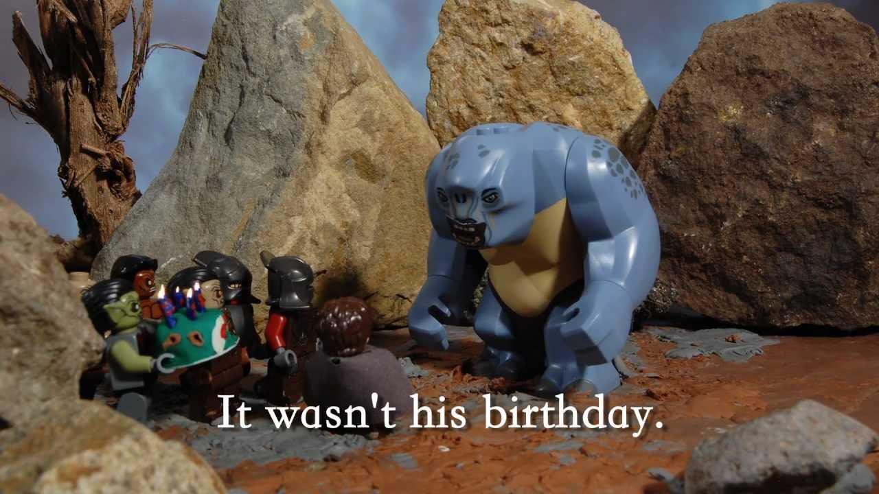 Lego Hobbit Birthday Cake
