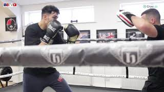 BEHIND THE SCENES: HATTON'S GYM PROSPECTS HAMMER THE PADS!