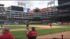 Texas Rangers fan hits home run, wins seats