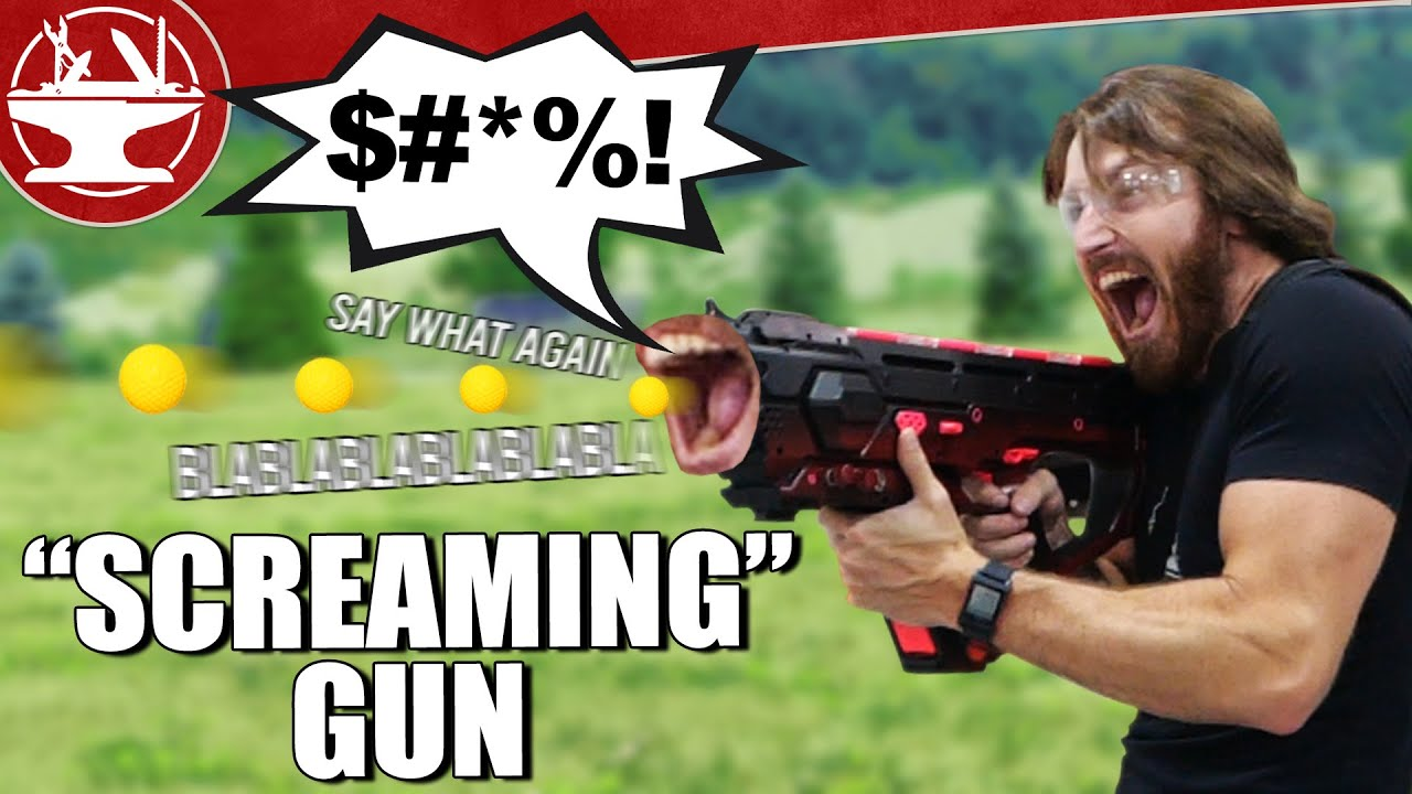 A Nerf Gun That Screams When You Shoot