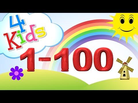 Zahlen lernen für Kinder von eins bis einhundert! Zählen von 1-100 (deutsch)