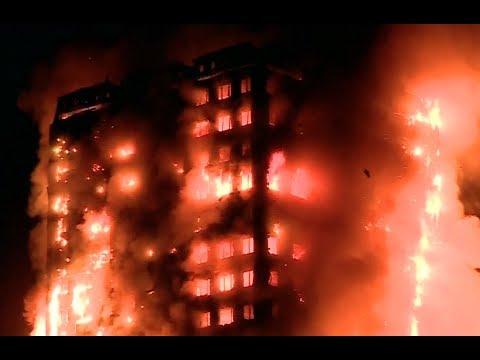 Doden bij enorme brand Londen - Nieuwsminuut #1406