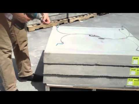 Evo slab hurricane pad 150 mph pull out strength youtube for Air conditioner slab
