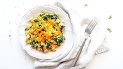 Keto Recipe - Spinach & Cheddar Scrambled Eggs