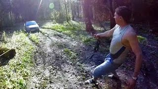 Как вытащить машину из грязи / Полиспаст это сила