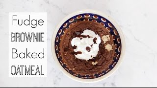 Healthy Breakfast Recipe: Fudge Brownie Baked Oatmeal! High Protein!
