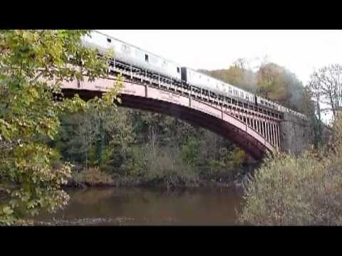Sir Keith Park loco crossing Victoria Bridge on Severn Valley Railway