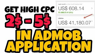 Admob Get High CPC New Tricks 1 click 37$