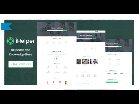 iHelper - Helpdesk and Knowledge Base Template HTML by timothemes ...