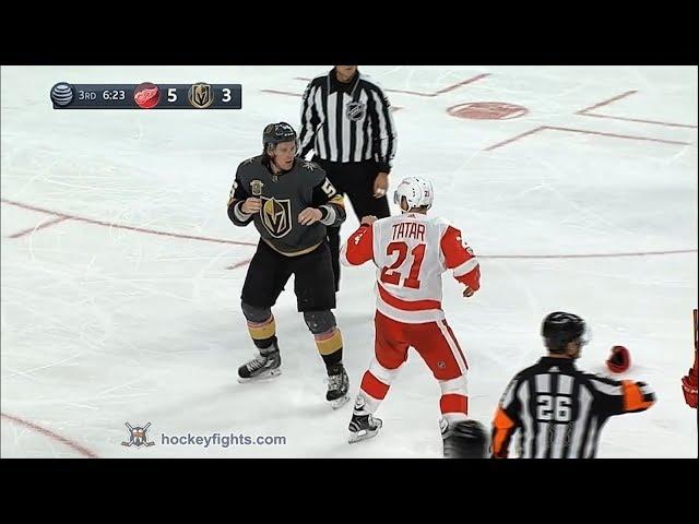 Tomas Tatar vs Erik Haula Oct 13, 2017