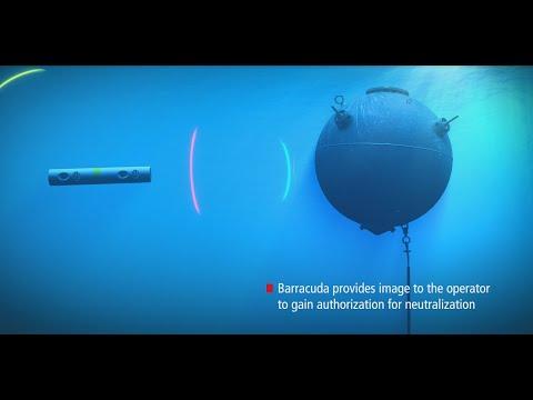 Mine countermeasure capability with Raytheon AQS-20 sonar & Barracuda