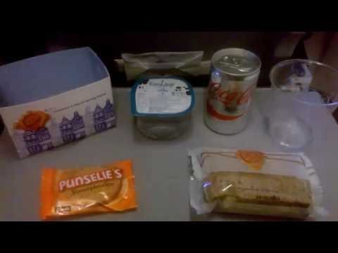 Catering KLM Boeing 737 Amsterdam to Paris