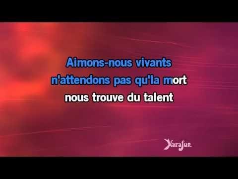 Karaoké Aimons-nous vivants - François Valéry *