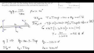 Equilibrium of Rigid Body Problem 4.75 (Statics Tutorials)