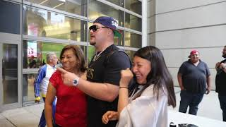 ANDY RUIZ GETTING MAD LOVE IN LAX, BACK FROM 3 DAY MEXICO TRIP