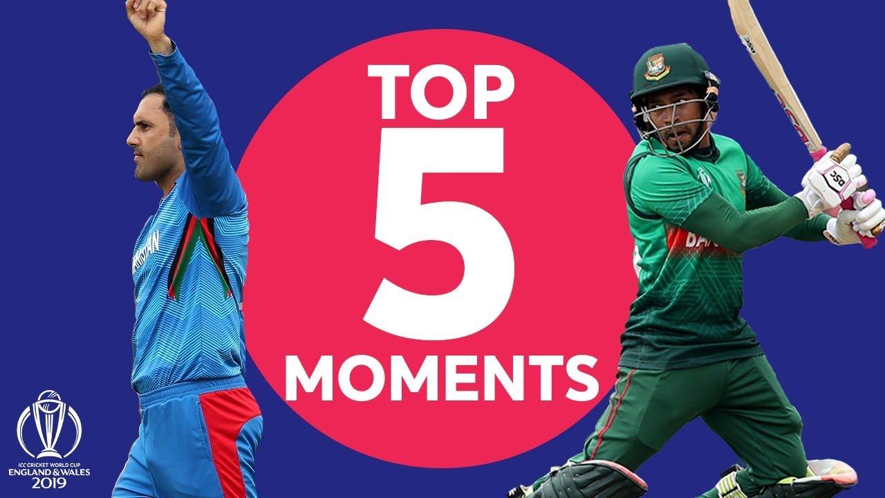 Nabi? Shakib? | Bangladesh v Afghanistan - Top 5 Moments | ICC Cricket World Cup 2019