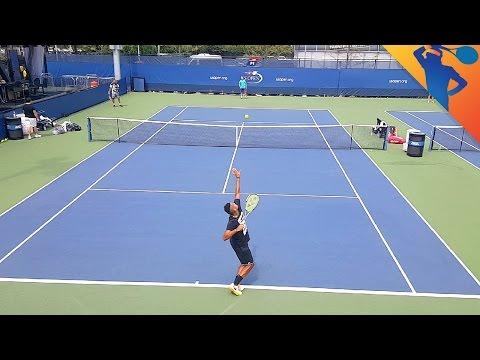 Nick Kyrgios Practice US Open 2016