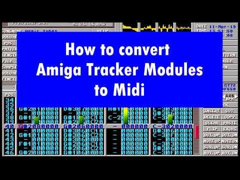 How To Convert Amiga Mod File To MIDI (module To Midi For Arranger Workstation Etc)