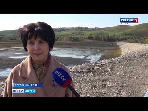В Алтайском районе укрепили дамбу на пруду Сорокинский