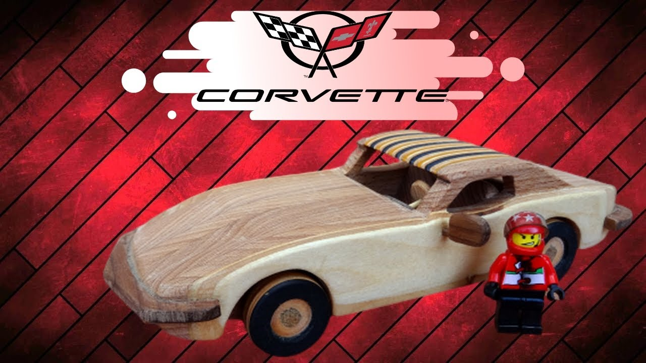 how to make a wooden toy corvette stingray 1968 | wooden miniature | lego  race - wooden creations