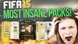 THE MOST INSANE PACKS ON FIFA 15!! Fifa 15 Top 10 Luckiest Packs! Pele, IF Messi! Fifa 15