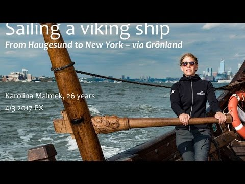 Sailing a viking ship - Välj vinden!