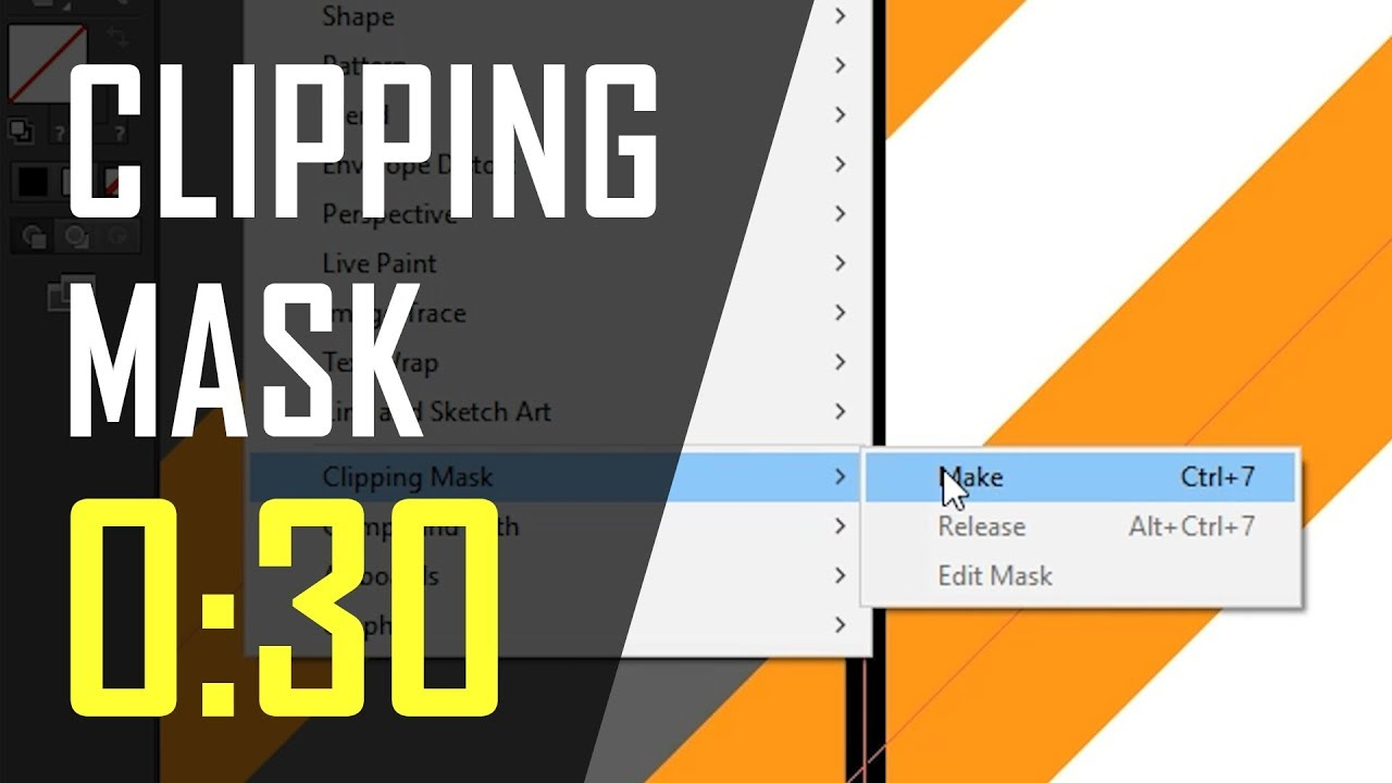 How to: Make a Clipping Mask in Adobe Illustrator