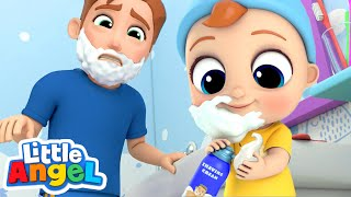 Download I Wanna Be Like Daddy | Little Angel Nursery Rhymes & Kids Songs Mp3 and Videos