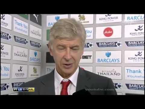 Leicester vs Arsenal 1 : 1 - Arsene Wenger post-match interview