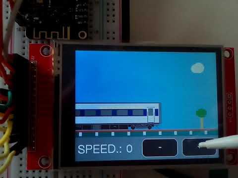 ESP32 - TFT eSPI library testing (ILI9341+touch)