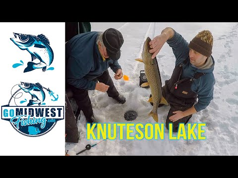 Ice Fishing Knuteson Lake, WI - JAN 2017 (Sawyer County)