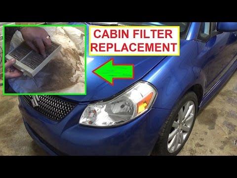 Cabin Air Filter Replacement and Location SUZUKI SX4 or FIAT SEDICI