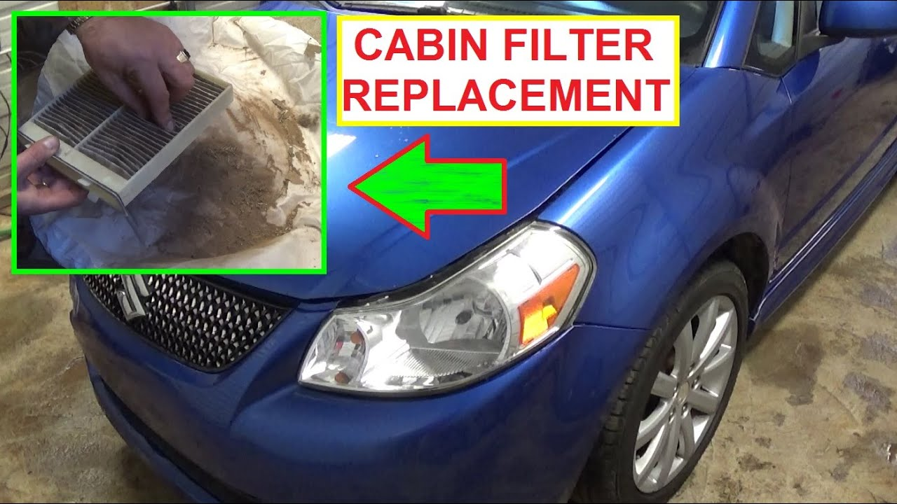 Cabin Air Filter Replacement and Location SUZUKI SX4 or FIAT SEDICI ...
