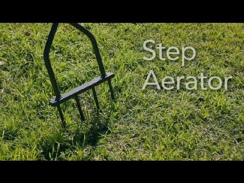 How to Use a Step Aerator : Garden Tool Guides