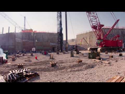 SLC Terminal Construction B-Roll (Pile Driving)