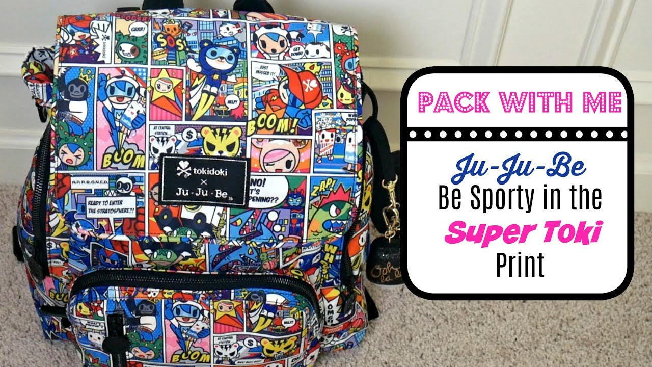 980e29a8a272 Pack With Me  Ju-Ju-Be Be Sporty in the Super Toki Print - YouTube