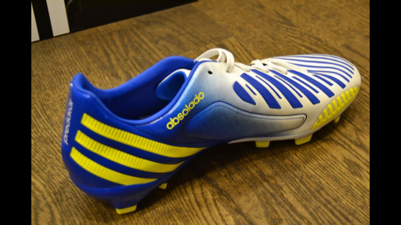 e5afa391e Adidas Predator Absolado LZ TRX FG | White/Blue/Yellow | Unboxing ...